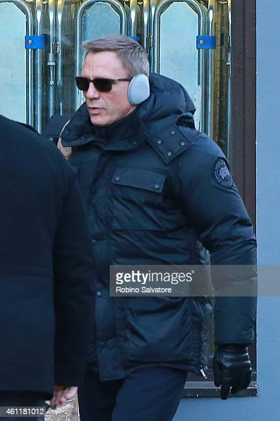 Daniel Craig is seen on location for the filming of James Bond on January 8 2015 in Bad Aussee Austria