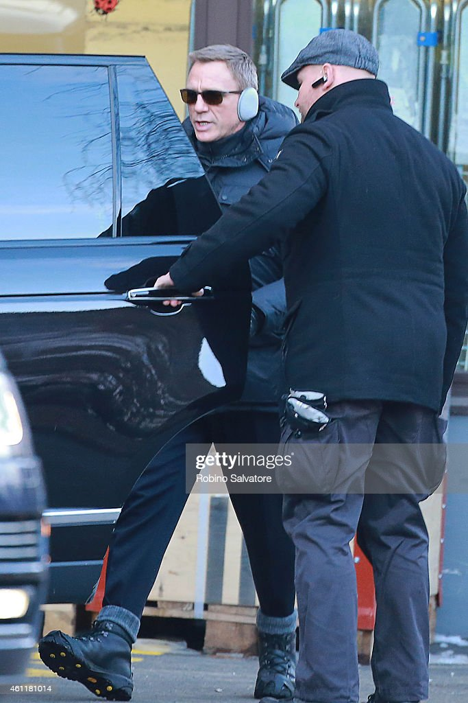 Daniel Craig is seen on location for the filming of James Bond on January 8, 2015 in Bad Aussee, Austria.