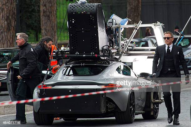 Daniel Craig is seen on location for the filming of Spectre on February 21 2015 in Rome Italy