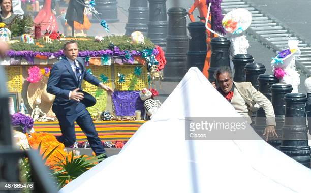 Daniel Craig is seen on the set of Spectre on March 26 2015 in Mexico City Mexico