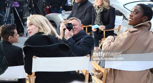 Daniel Craig Lea Seydoux and Lashana Lynch are seen on December 04 2019 in New York City