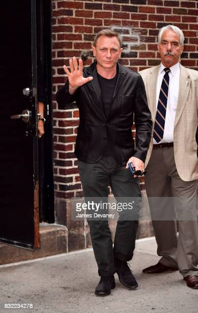 Daniel Craig leaves the 'The Late Show With Stephen Colbert' at the Ed Sullivan Theater on August 15 2017 in New York City