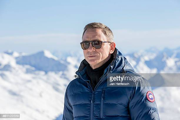 Daniel Craig poses at the photo call for the 24th Bond film 'Spectre' on January 7 2015 in Soelden Austria