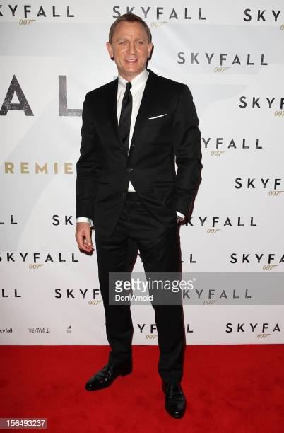 Daniel Craig poses at the 'Skyfall' Australian Premiere at the State Theatre on November 16 2012 in Sydney Australia