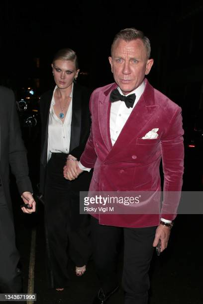Daniel Craig seen attending Bond: No Time To Die - world film premiere after parties on September 28, 2021 in London, England.