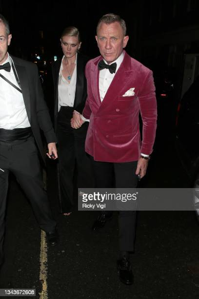 Daniel Craig seen attending Bond: No Time To Die - world film premiere afterparties on September 28, 2021 in London, England.
