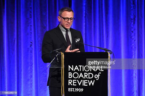Daniel Craig speaks onstage during The National Board of Review Annual Awards Gala at Cipriani 42nd Street on January 08 2020 in New York City