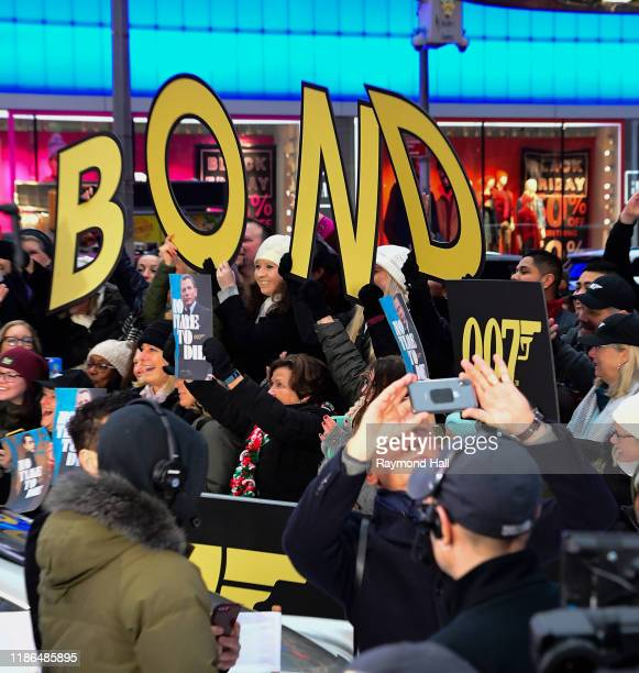 Daniel Craig takes a selfie outside Good Morning America on December 4 2019 in New York City