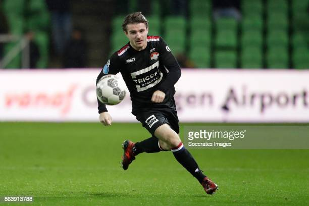 Daniel Crowley of Willem II during the Dutch Eredivisie match between FC Groningen v Willem II at the Noordlease stadium on October 20 2017 in...