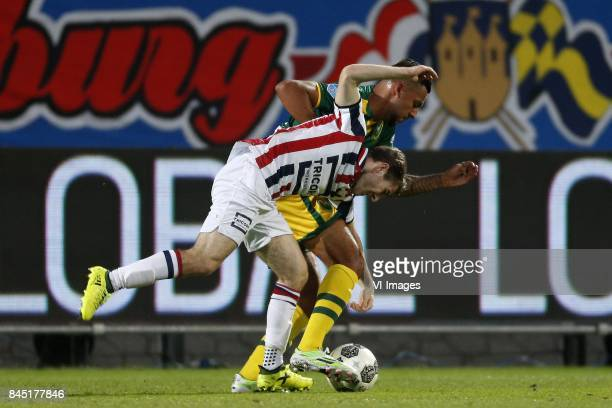Daniel Crowley of Willem II Ricardo Kishna of ADO Den Haag during the Dutch Eredivisie match between Willem II Tilburg and ADO Den Haag at Koning...