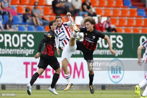Daniel Crowley of Willem II Wout Faes of Excelsior during the Dutch Eredivisie match between Willem II Tilburg and sbv Excelsior at Koning Willem II...