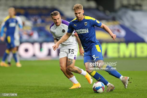 Daniel Csoka of AFC Wimbledon during the Sky Bet League One match between AFC Wimbledon and Shrewsbury Town at The Kiyan Prince Foundation Stadium on...