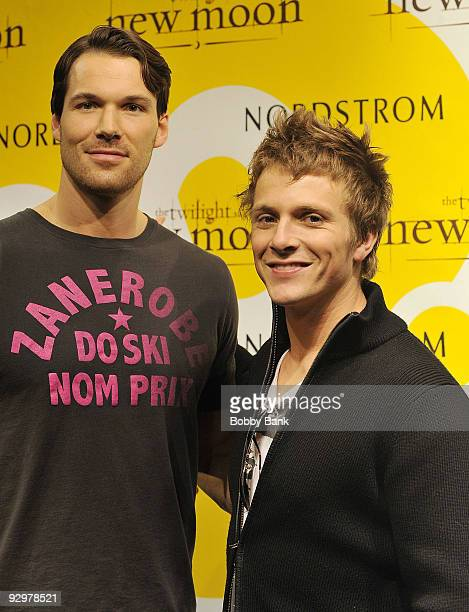 Daniel Cudmore and Charlie Bewley attend The Twilight Saga New Moon Photo Call at the Cherry Hill Mall on November 10 2009 in Cherry Hill New Jersey