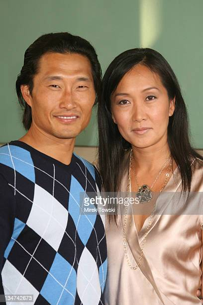 Daniel Dae Kim and his wife Mia during The Lake House Los Angeles Premiere Arrivals at Arclight Cinerama Dome in Hollywood California United States