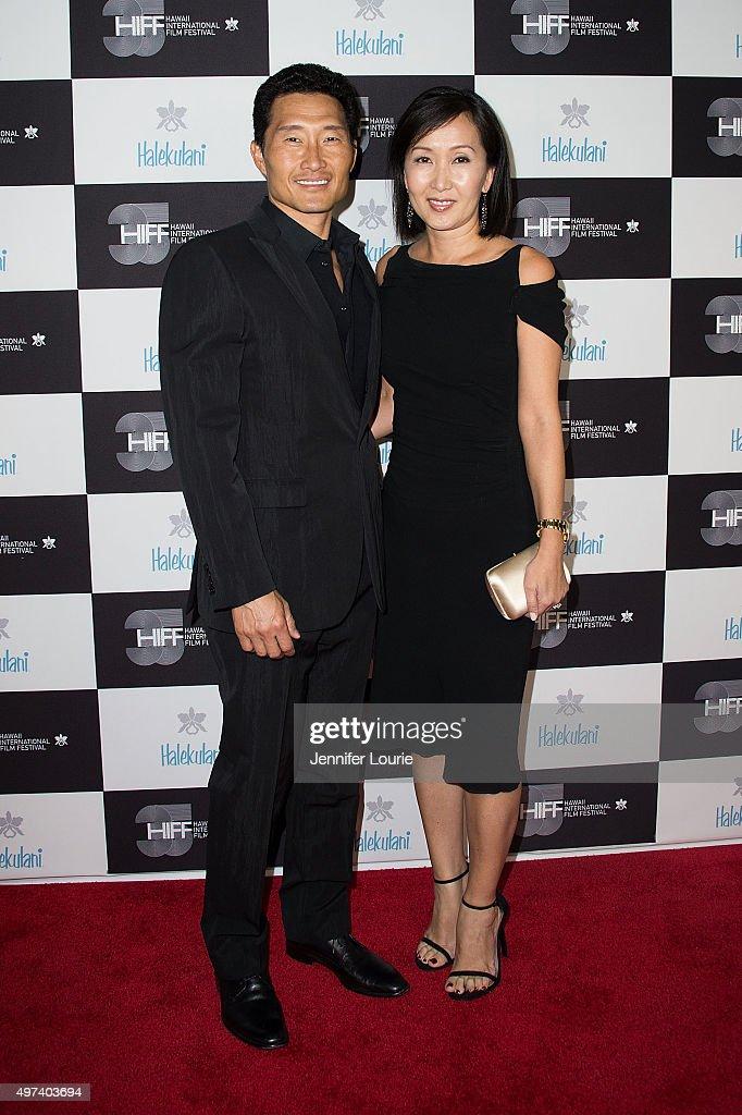 Daniel Dae Kim and Mae Kim arrive at the 2015 Hawaii International Film Festival Awards Gala on November 15, 2015 in Honolulu, Hawaii.