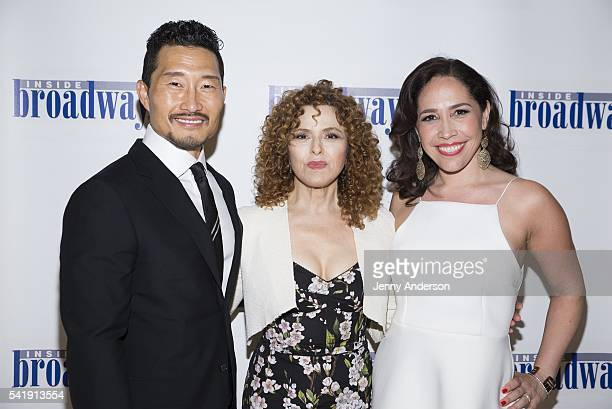 Daniel Dae Kim Bernadette Peters and Andrea Burns attend 2016 Beacon Awards at Marriott Essex House on June 20 2016 in New York City