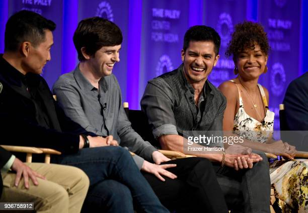 Daniel Dae Kim Freddie Highmore Nicholas Gonzalez Antonia Thomas attend The Paley Center For Media's 35th Annual PaleyFest Los Angeles 'The Good...
