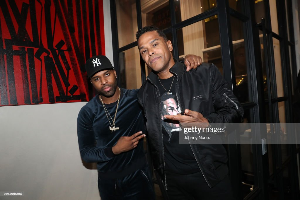 Daniel Daley and Maxwell Attend The dvsn 'Morning After' Album Release Listing Session at 120 Wooster Street on October 11, 2017 in New York City.