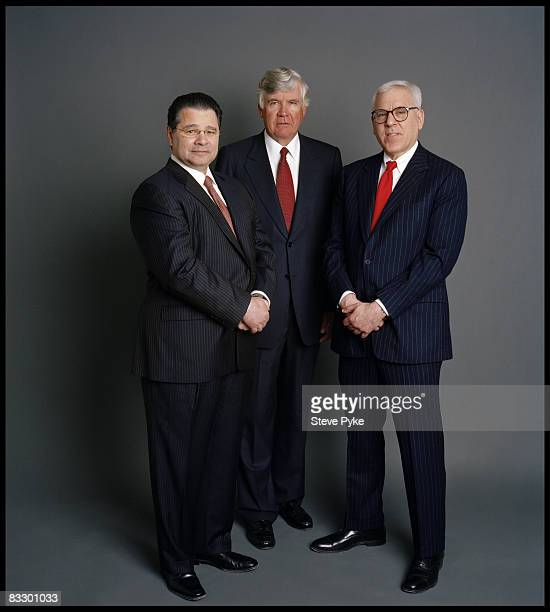 Daniel D'Aniello William Conway Jr and David Rubestein cofounders of The Carlyle Group pose at a portrait session in New York City