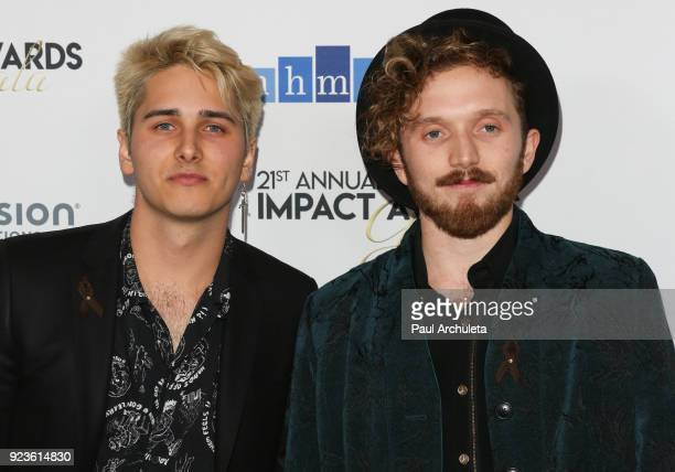 Daniel Davila and Cooper Bell of Fabriq attend the National Hispanic Media Coalition's 21st annual Impact Awards at the Beverly Wilshire Four Seasons...