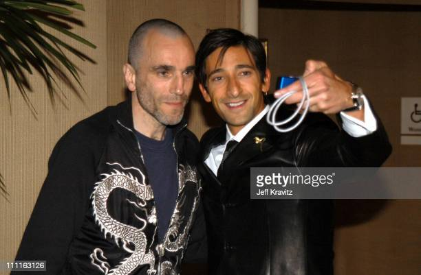 Daniel Day Lewis and Adrien Brody during Miramax Max Awards at St Regis Hotel in Los Angeles CA United States