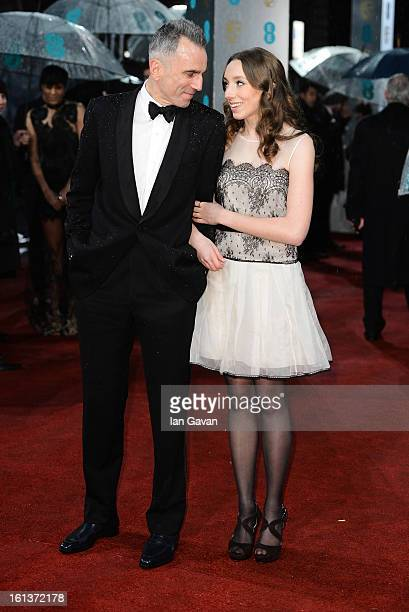 Daniel Day Lewis and Charissa Shearer attend the EE British Academy Film Awards at The Royal Opera House on February 10 2013 in London England
