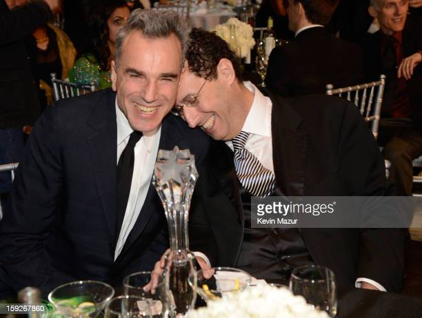 Daniel Day Lewis and Tony Kushner during the 18th Annual Critics' Choice Movie Awards at The Barker Hanger on January 10 2013 in Santa Monica...