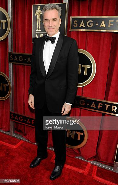 Daniel Day Lewis attends the 19th Annual Screen Actors Guild Awards at The Shrine Auditorium on January 27 2013 in Los Angeles California...