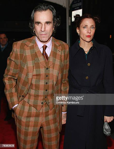 """Daniel Day-Lewis and Rebecca Miller arrive at the """"There Will Be Blood"""" Premiere at the Ziegfeld Theater on December 10, 2007 in New York City."""