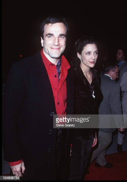 """Daniel Day-Lewis and wife Rebecca Miller during """"The Crucible"""" Los Angeles Premiere at AMPAS Goldwyn Theater in Beverly Hills, California, United..."""