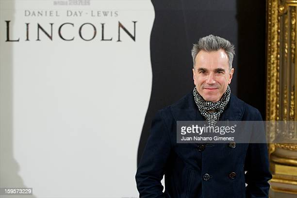 Daniel DayLewis attends 'Lincoln' photocall at Casa de America on January 16 2013 in Madrid Spain
