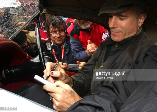 Daniel DayLewis attends the 2013 Mille Miglia on May 16 2013 in Brescia Italy