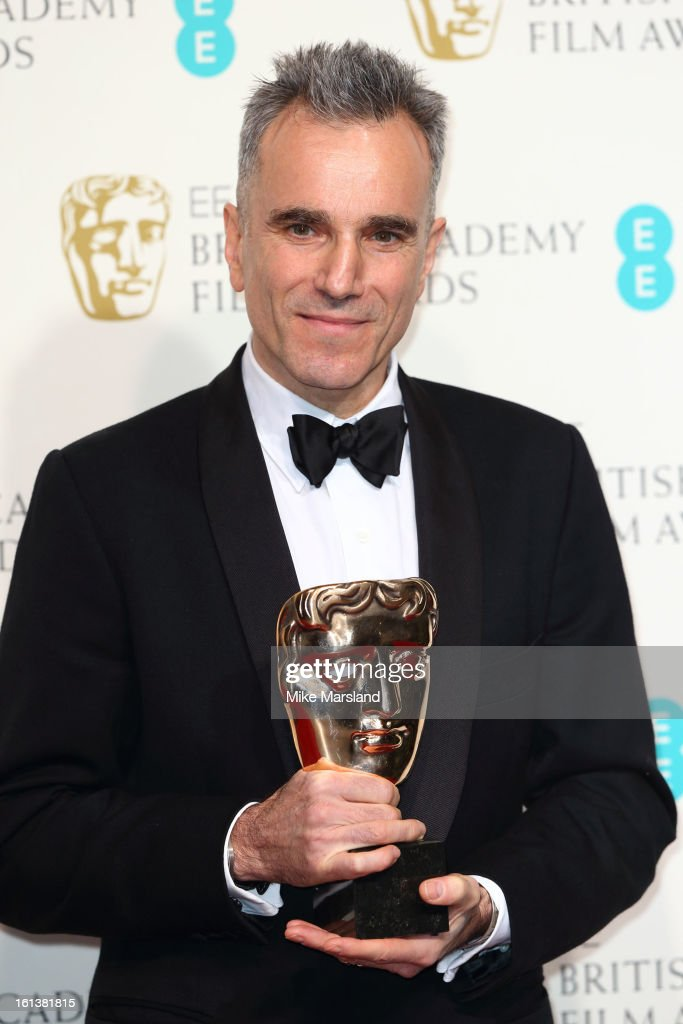Daniel Day-Lewis poses in the Press Room at the EE British Academy Film Awards at The Royal Opera House on February 10, 2013 in London, England.