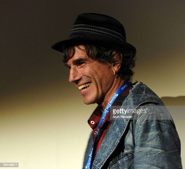 Daniel DayLewis receives the Silver Medallion at the Telluride Film Festival on August 31 2007 in Telluride Colorado