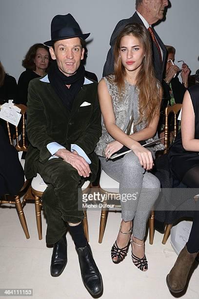 Daniel de la Falaise and Solene Hebert attend the Giambattista Valli show as part of Paris Fashion Week Haute Couture Spring/Summer 2014 on January...