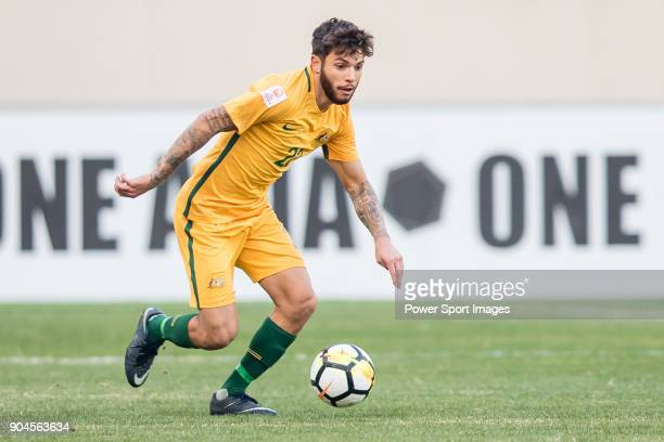 Daniel De Silva of Australia in action during the AFC U23 Championship China 2018 Group D match between Australia and Syria at Kunshan Sports Center...