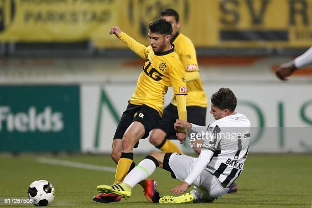 Daniel de Silva of Roda JC Danny Bakker of ADO Den Haagduring the Dutch Eredivisie match between Roda JC Kerkrade and ADO den Haag at the Parkstad...