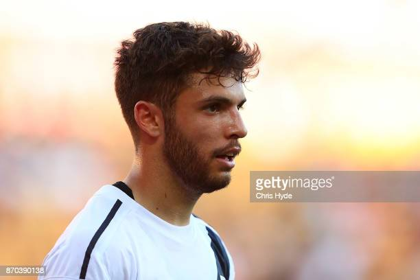 Daniel De Silva of the Mariners looks on during the round five ALeague match between the Brisbane Roar and the Central Coast Mariners at Suncorp...