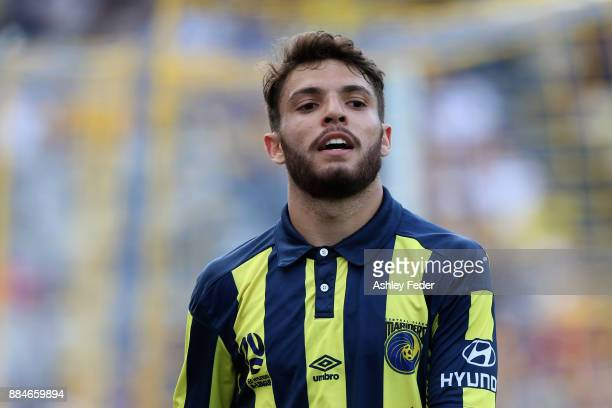 Daniel De Silva of the Mariners looks on during the round nine ALeague match between the Central Coast Mariners and Perth Glory at Central Coast...