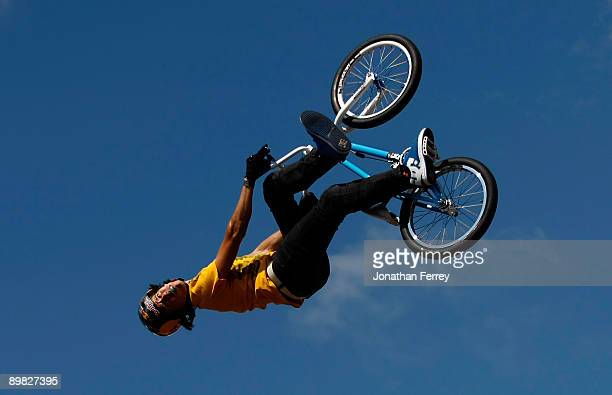 Daniel Dehrs rides in the BMX PARK finals during day 3 of the Wendy's Invitational Dew Action Sports Tour on August 16 2009 at the Rose Garden in...