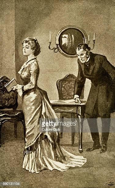 Daniel Deronda by George Eliot Lush informs Gwendolen of Henleigh Grandcourt's intended will Caption reads 'Tell Mr Grandcourt that his arrangements...