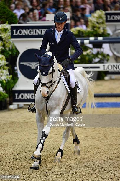 Daniel Deusser of Germany rides Cornet d'Amour during the Longines FEI World Cup Jumping Final event of the Gothenburg Horse Show at Scandinavium...