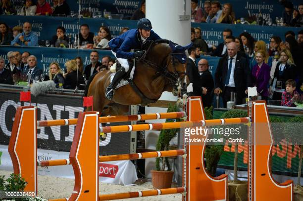 Daniel Deusser of Germany riding Calisto Blue during the Longines FEI Jumping World Cup Verona 2018 CSI5*W on October 28 2018 in Verona Italy