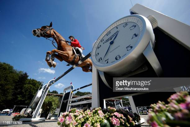 Daniel Deusser of Germany riding Scuderia 1918 Tobago Z competes during Day 4 of the Longines FEI Jumping European Championship 2nd part, team...