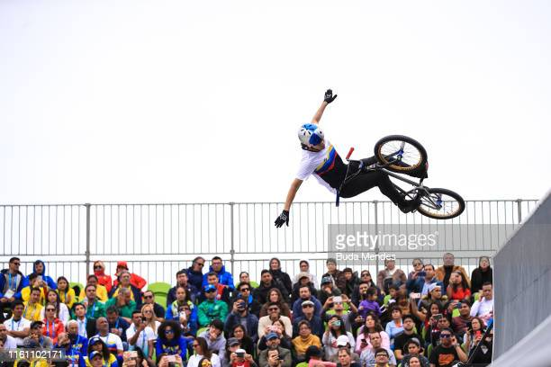 Daniel Dhers of Venezuela competes in the Cycling BMX Men's Freestyle on Day 16 of the Lima 2019 Pan American Games on August 11 2019 in Lima Peru