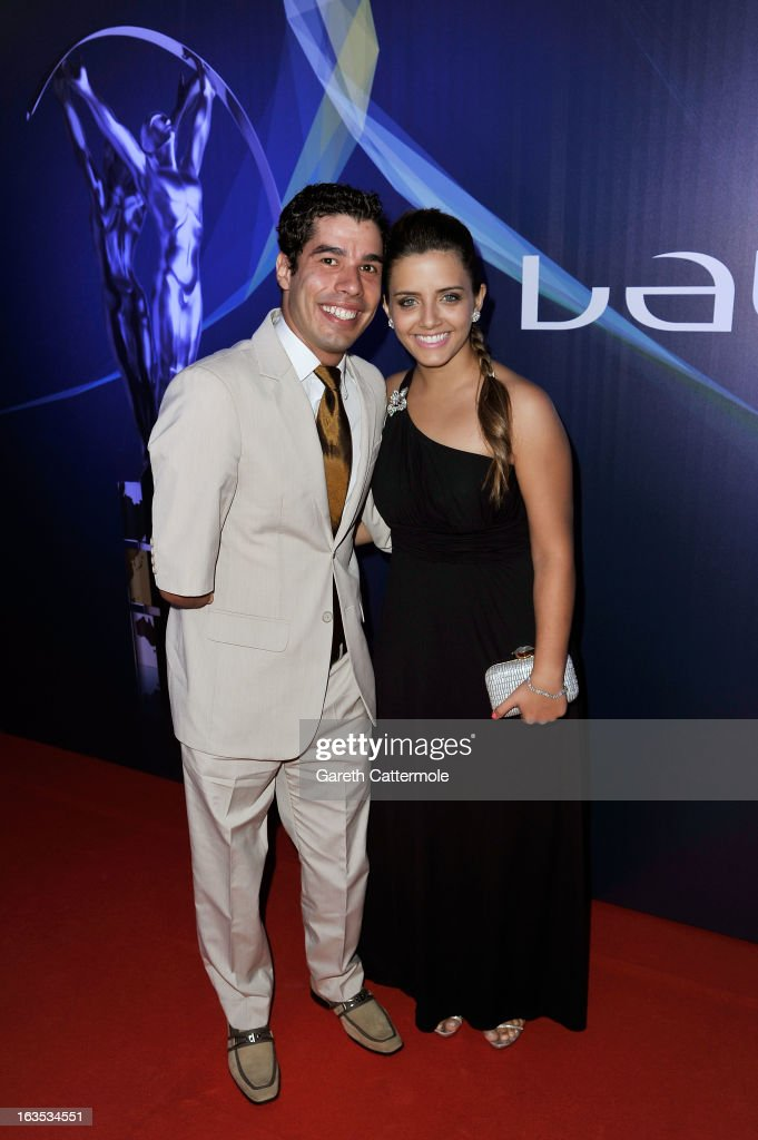Daniel Dias and guest attends the 2013 Laureus World Sports Awards at the Theatro Municipal Do Rio de Janeiro on March 11, 2013 in Rio de Janeiro, Brazil.