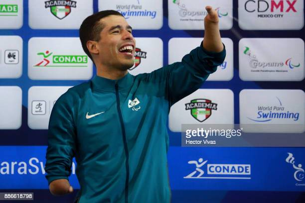 Daniel Dias of Brazil celebrates after winning the Men's 50m Freestyle S5 Final during day 4 of the Para Swimming World Championship Mexico City 2017...