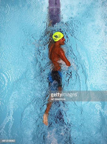 Daniel Dias of Brazil competes in the hearts of the Men's 100m Freestyle S5 during Day Seven of The IPC Swimming World Championships at Tollcross...