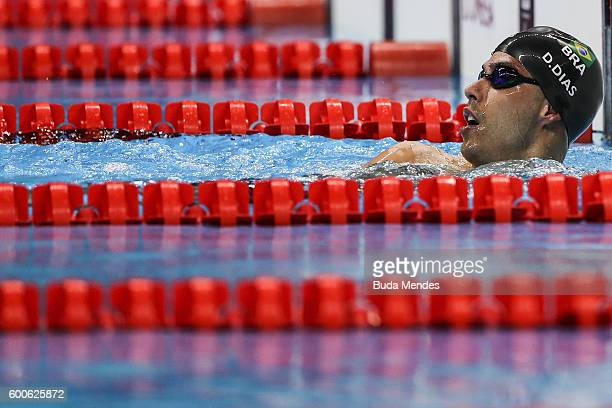 Daniel Dias of Brazil competes in the Men's 200m Freestyle S5 heat on day 1 of the Rio 2016 Paralympic Games at Olympic Aquatics Stadium on September...