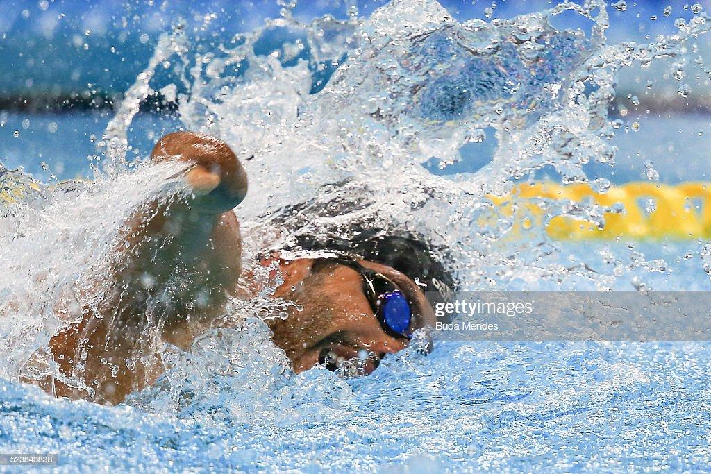 Paralympic Swimming Tournament - Aquece Rio Test Event for the Rio 2016 Paralympics : ニュース写真